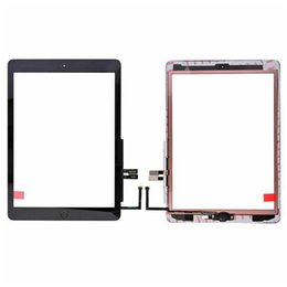 apple ipad touch tablet NZ - 50Pcs Touch Screen Digitizer+Adhesive+Home Button Flex Cable For Apple iPad 6 6th Gen A1893 A1954 2018 Replacement DHL Free