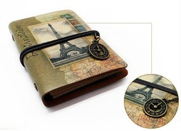 $enCountryForm.capitalKeyWord Australia - mini leather notebook vintage loose- leaf notepad the Eiffel tower travel diary book leather journal school stationery supplier