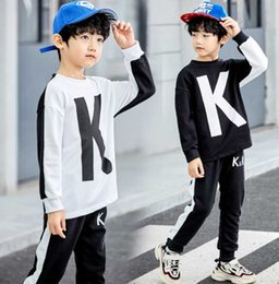 coat shirt pants Australia - 2020 New classic Luxury Logo Designer Baby t-shirt Pants coat jacekt hoodle sweater olde Suit Kids fashion Children's 2pcs Cotton Clothing S