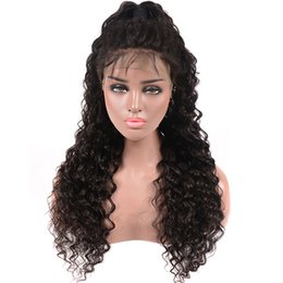 Brazilian Curly Weave Hairstyles Australia - Brazilian Human Hair Weave Deep Wave Lace Front Wig Brazilian Virgin Human Hair Lace Wigs Deep Water With Baby Hair Glueless Deep Curly