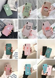 $enCountryForm.capitalKeyWord Australia - Explosion Models Iphone 6 7 8 Plus Couple Personality Silicone Cell Phone Cases anti-fall Matte Phone Shell For IPhone X XS MAX DHL