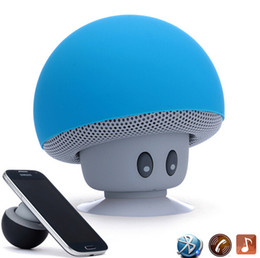 $enCountryForm.capitalKeyWord Australia - Colorful Mini Bluetooth Speaker Mushroom Speaker 3.0 With Mic And Suction Cup For Mobile Phone IP6S Wholesale