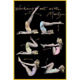 Marilyn Monroe Stickers For Walls Australia - WORKING OUT WITH MARILYN MONROE - EXERCISE Art Silk Poster 24x36inch 24x43inch 0585