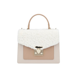 $enCountryForm.capitalKeyWord NZ - Genuine Leather Lamb Hair Beach Bag Woman Package New Design Pattern Fashion Oblique Satchel Single Shoulder Handbag Crossbody korean Style