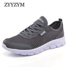 Breathable Mesh Mens Summer Shoes Australia - Men Casual Shoes Spring Summer Fashion Sneakers Outdoors Breathable Light Mesh Shoes Unisex Lace Up Mens Shoes Plus Size