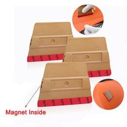 Feelings Magnet Australia - EHDIS 3pcs Vinyl Car Film Wrap Magnet Microfiber Felt Squeegee Carbon Foil Magnetic Sticker Wrapping Scraper Window Tints Tool
