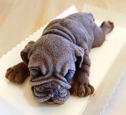 Candy shaped Cakes online shopping - 3D shar pei dog muddy puppy dirty doggy shape silicone cake mold chocolate candy fondant ice cube moulds DIY bakery supplies