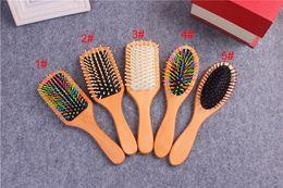 $enCountryForm.capitalKeyWord NZ - Lotus wood women massage hair combs hot wooden air cushion anti-static hair brushes hair skin plate comb 5 styles for choice