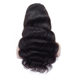 China Human Hair Wigs Brazilian Virgin Body Wave Hair Lace Front Wig 1b Natural Color Middle Part Pre Plucked Hairline with Baby Hair 4x4 cheap human hair wigs middle hairline suppliers