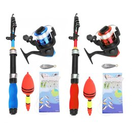 ultralight glasses 2019 - Protable Fishing Rod Red Blue Pole Ultralight Glass Steel Fishing Rod Fishers Tackle Set Accessory cheap ultralight glas