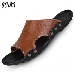 $enCountryForm.capitalKeyWord Australia - Summer Men Sandals Pu Leather Men Beach Roman Sandals Brand Casual Shoes Flip Flops Thong Sneakers Plus Big Size #99079