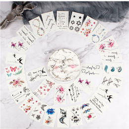 Cover sCar tattoos online shopping - 30 Styles Patterns Flowers Temporary Tattoo Stickers Removable Body Art Water Transfer Waterproof Tattoos Sticker Cover Scars