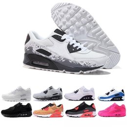 air sports Australia - New Men womens Shoes classic 90 Men and women Running Shoes Black Red White Sports Trainer Air Cushion Surface Breathable Sports Shoes 36-46