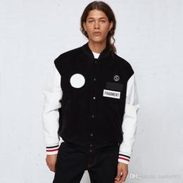 $enCountryForm.capitalKeyWord NZ - 18fw Hiroshi Fujiwara X Mo Down Baseball Jackets Genuine Leather Sleeve Unisex Fashion Black Coat High Street Hip Hop High Quality Hflsjk185