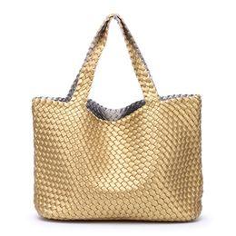 $enCountryForm.capitalKeyWord UK - Women's Handbags Totes 2018 Female PU Leather Shoulder Bag Woven Large Capacity Travel Shopping Basket Bag Bolsa Feminina