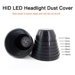 75mm cap UK - 2pcs universal LED HID headlight rubber dustproof cover waterproof cap 70mm 75mm 80mm 85mm 90mm 95mm 100mm thermostability