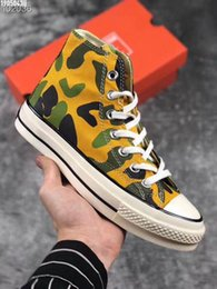 Spring Fall Canvas Shoes Australia - Spring 2019 new men's and women's Hong Kong style camo canvas shoes for women's high-top shoes for men's versatile sports casual shoes a31