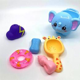 $enCountryForm.capitalKeyWord Australia - Baby Bath Toys Shower Room Little Elephant Hippo Water Spray Toy Knead Make A Sound Grasp Pvc Dolls Baby Boy 9hxa N1