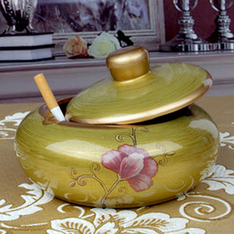 Discount large ceramic vases - KTV large fashion personality restoring ancient ways household adornment coloured drawing or pattern Ceramic ashtray ou