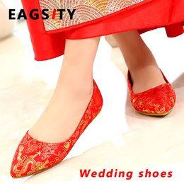 Wedding Silk Flats Australia - Silk satin women flats wedding shoes dancing  slip on pointed toe d182584e9ab9