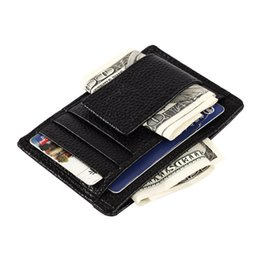 Black Wallet Id NZ - Lucky 2019 Hot Sale Gold Brand Men's Wallet Credit Id Card Holder Genuine Brown And Black Colors Slim Purse Gift