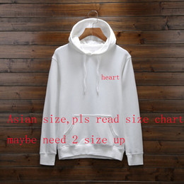 Heart sweatsHirt online shopping - New Designer Hoodies For Men Spring Mens Hoodie Sweatshirt Loose Style Fashion Tide Luxury Pullover Tops With Heart Pattern S XL