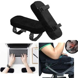 Padded Office Chairs NZ - New Fashion Chair Grasped Pads Memory Cotton Anti-Slip Armrest Cushions for Office Home New Fashion Memory Cotton Armrest Cushions