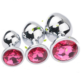 $enCountryForm.capitalKeyWord UK - Factory price 1 Large + 1Medium + 1Small sizes Stainless Steel Attractive Butt Plugs Rosebud Anal Sex Jewelry Jewelled buttplugs Many colors