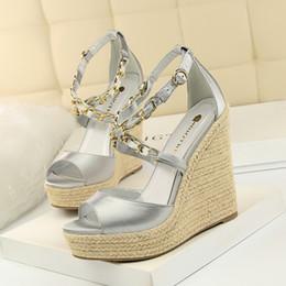 $enCountryForm.capitalKeyWord Australia - Hot Sale-sandals wedges shoes for women open toe heels super high heels escarpins sexy hauts talons womens shoes summer fashion 2019 womens