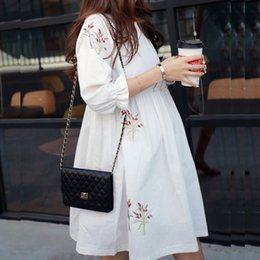 Wholesale linen blouses for women for sale – plus size 2019 Loose Summer Maternity Dresses Cotton Blouses Shirts Pregnant Dress Pregnancy Dress Maternity Clothes for Pregnant Women