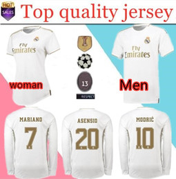 madrid jerseys long sleeves NZ - 19 20 Real madrid HOME LONG SLEEVE Soccer Jerseys ASENSIO HAZARD 7 BLAE BENZEMA ISCO AWAY JOVIC LS 2019 2020 goalkeeper JERSEY SHIRT