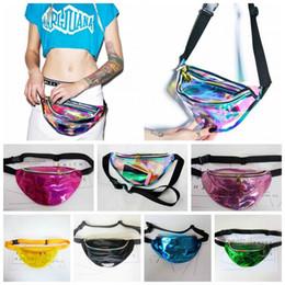 5a755abba4398f 21 Colors Hengreda Shiny Fanny Pack Hologram Laser Waist Bag Rave Festival  Metallic Hologram Bum Bag Home Storage Bags 10pcs