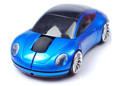 Car Lights Australia - Wireless Mouse Sports Car Mouse 2.4Ghz USB Computer Mice Optical with LED Flashing Light