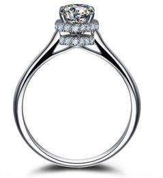 Princess cut gemstone rings online shopping - 2017 Lightyou999 ct Size Fine Jewelry Soild sterling silver Princess cut white Topaz Gemstones Wedding Ring for love gift