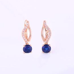 $enCountryForm.capitalKeyWord UK - ISHOWLEE Round Crystal 585 Rose Gold Stud Earrings of Women Korean Fashion Earrings With Cubic Zirconia Minimalism Jewelry esb06