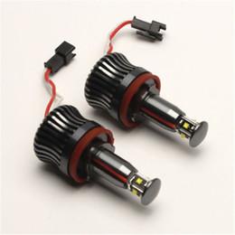 Bmw M3 Lights Australia - 2X 20W H8 White LED Light marker Auto Angel Eyes for E90 E91 E92 E93 Lights Bulbs For E60 E61 E70 E71 E90 E92 E93 X5 X6 Z4 M3