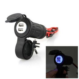 ce iphone chargers NZ - Waterproof Car charger USB adapter Motorcycle Cigarette Lighter USB Phone Charger 5V 4.2A