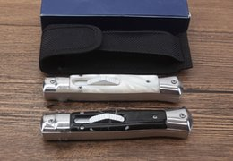 ItalIan knIfes online shopping - High recommend inch Italian Mafia Alex C matic knife camping Collecting hunting knife knives copies freeshipping