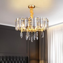 luxury kitchens designs UK - New design luxury post-modern round crystal chandelier lighting gold creative chandeliers lights pendant lamps for living room bedroom