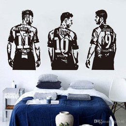 Football sticker decoration For walls online shopping - Vinyl Figure all Stickers Messi Nrymar Suarez Football Sports Wall Decal Murals for Living Room kids Room Decoration