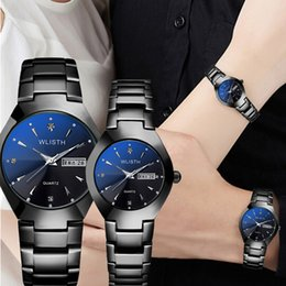 Watch For Men Blue Australia - Couple Watches Top Brand Luxury Diamond Business Wrist Watch for Men Hour WLISTH Quartz Women Watches Dress Stylish Men's Watch