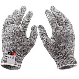 Cut finger knife online shopping - Cut resistant Gloves Knife Anti cutting Hand Protection Gloves Food Grade Level Cut Protection Finger Glove Safety Kitchen Glove GGA2722