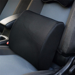 Car Office Chairs Australia - Cushion Lower Back Support Pillow for Car Seat Office Chair Soft Memory Foam Massager Waist Cushion Pillow