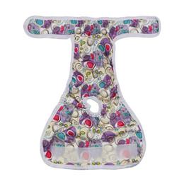 Vente en gros Fleur pourpre femelle chien couche réutilisable lavable tissu absorbant durable Doggie couches pantalon couches pour animaux de compagnie à proximité