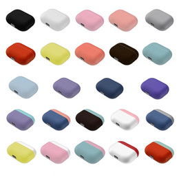 pouch for headphones UK - Multi Color Silicone for AirPods Pro Case for Apple designer Airpods Skin Sleeve Pouch Box Protector Wireless Eirpods Headphones