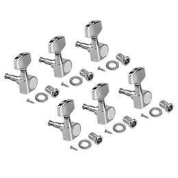 Electric Guitar Tuning Machines UK - Electric Guitar Tuning Pegs Tuners Machine Heads for Acoustic Parts 6R Chrome