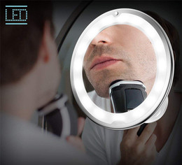$enCountryForm.capitalKeyWord NZ - New LED Cosmetic Mirror 7X 10X magnifying LED makeup mirror dressing mirror with light with suction cup bathroom