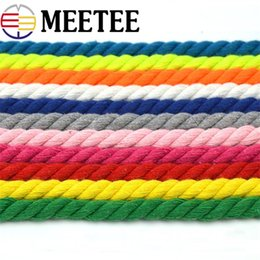 red black white decor 2019 - 10Meters 100% Cotton 10mm 3 Shares Twisted Cotton Cords Woven Rope String DIY Bag Drawstring Belt Strap Decor Accessorie