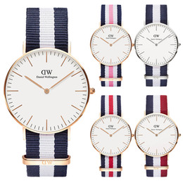 Brand Luxury Style Watch Australia - 2019 top luxury brand Daniel wellington's women men fashion leather style 40 36mm rose gold mens watches montre femme relojes Bracelet gift
