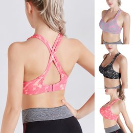 Low cut vest men online shopping - CALOFE Women s Camouette Bra Low cut Sexy Full Cup Vest Absorb Sweat Bra Solid Fitness Padded Push Up Stretch Top Vest Yoga